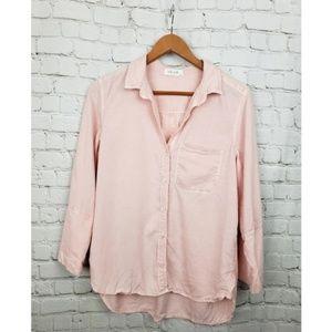 Bella Dahl Pink Chambray Button Down Blouse